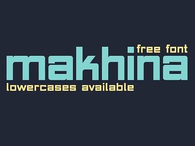 Makhina Rounded square font Free typogaphy freefont freebies font