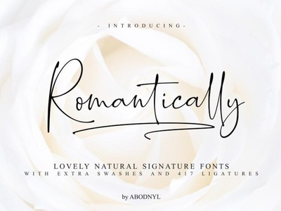 Romantically Natural signature font Free