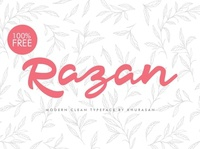 Razan Hand-drawn script typeface font Free