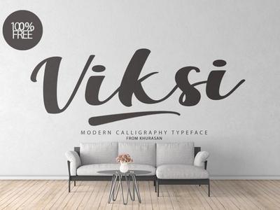 Viksi Script awesome font Free