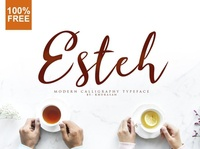 Esteh Awesome calligraphy typeface font Free