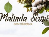Malinda Modern calligraphy Font Free