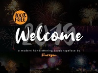 Welcome 2019 Modern handlettering font Free
