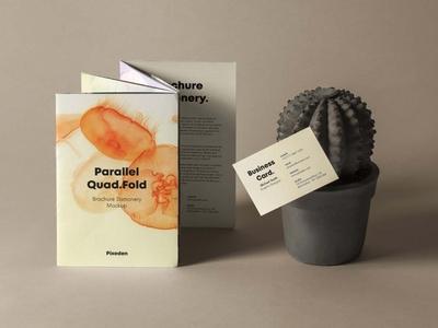 Free Quad Fold Brochure Mockup