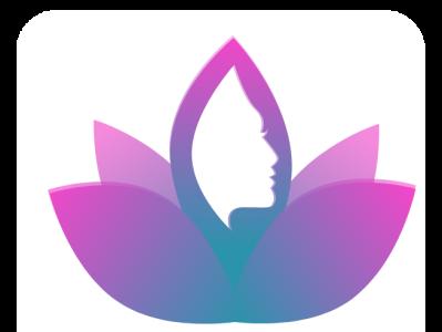 Women's Logo minimalist color simple artboard nature flower loto face inspiration pink challenge ui beautiful women empowerment logo women