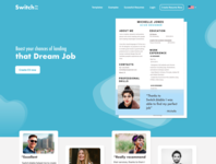 Home Page for an online CV builder company.
