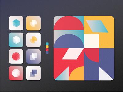 Indie Puzzle Game   App Icons — Daily UI #005 colors mobile app mobile dailyui 005 daily ui 005 illustration icon minimal clean app icon icons branding mobile ui logo app adobe illustrator ui design ui design daily ui