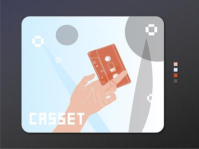 CASSET   Illustration graphic graphic design graphicdesign gradient ai illustrator hand cassette colors colours colorful web logo branding typography vector illustration ui adobe illustrator design