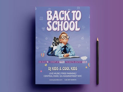 Back to School Flyer PSD Template