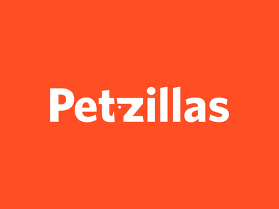 Petzillas logo proposal minimal design app vector logo logotype