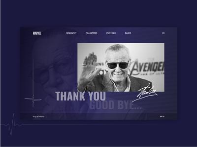 Stan Lee – R.I.P. excelsior web concept design goodbye thankyou rip marvel avangers stan lee