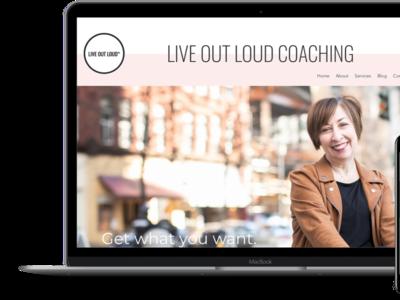 Live Out Loud Career Coaching Web Design