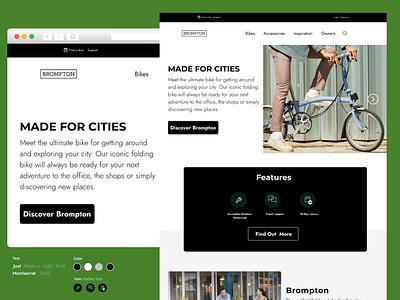 Brompton  Bikes - Landing Page ui figmadesign branding web ui design
