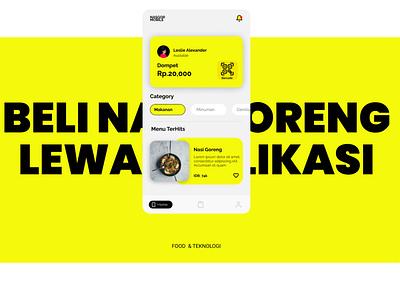 Pesan Nasi Goreng Dengan Mobile App ui figmadesign branding ui design