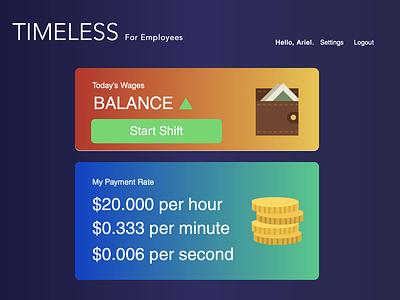 Simple Employee Dashboard web modern simple finances financial dashboard finance dashboad ui flat minimal gradient