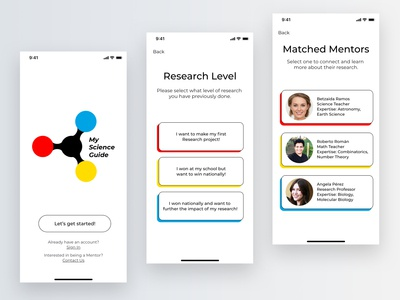 My Science Guide colorful messages educational education design app adobexd flat simple ios minimal