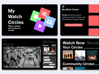 My Watch Circles figma desktop squares creative jam adobe community tv app tv show content movies webdesign web netflix flat minimal adobe xd