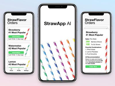 Minimal Straw AI Application ios minimal flat app ux design ui adobexd
