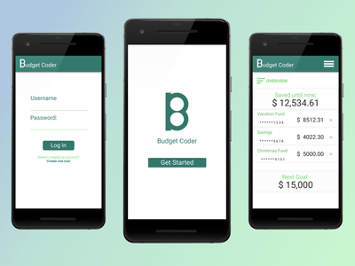 Financial Savings App design app flat materialdesign minimal android
