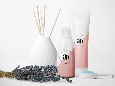 Adavi Beauti #3 (Var.1) ab boutique minimal brending flower letter logo typography cosmetic organic makeup