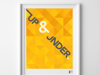 Up & Under - Poster Concept typography