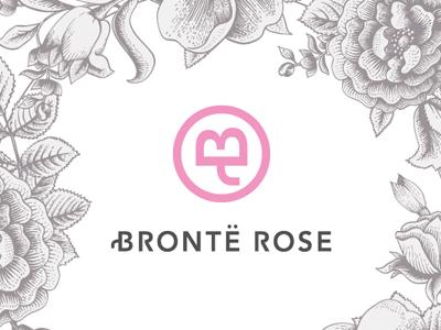 Bronte Rose logo design typography
