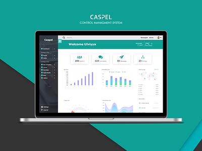 Caspel CMS controlpanel color webapp app creative cleardesign cmsui uiux ui caspel cms