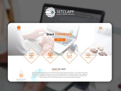 SetClapp ui cleardesign color design cool orangesite orange websitedeisn web webdesigner responsivce modern friendly website uiux webdesign