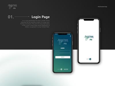 Restclapp Mobile App android ios branding logo design app modern creative cleardesign