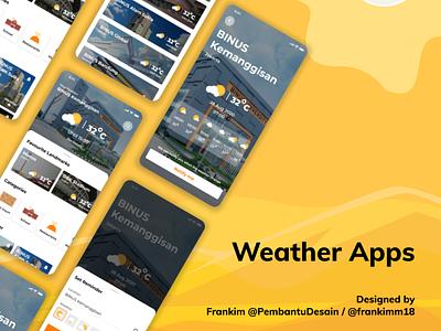 Weather Apps weatherapps weather illustration branding ui design design uxdesign uidesign ux uiux ui