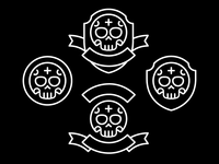 Skull Football Badges