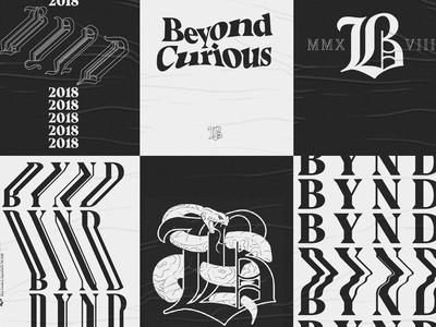 Beyond Curious | Posters illustration experiment beyond typography poster lettering warped