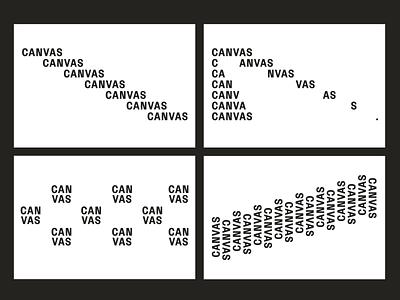 CANVAS | Typo treatments branding logo typography