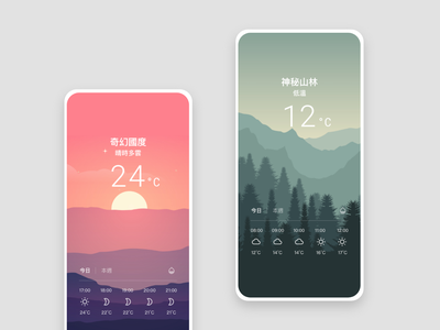 Daily UI #037:Weather app dailyuichallenge daily ui ui design adobe xd