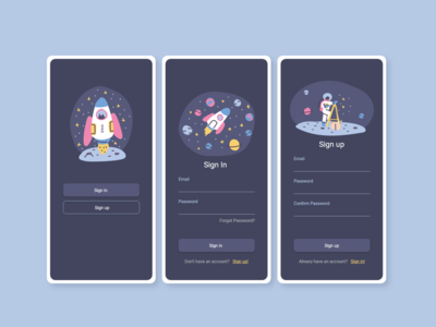 Daily UI #001 : Sign in / Sign up