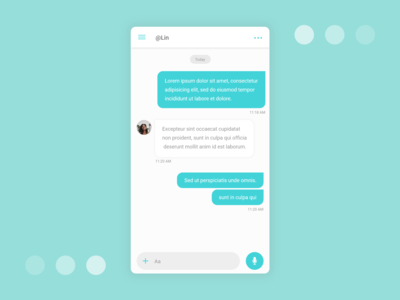 Daily UI #013 : Direct Messaging