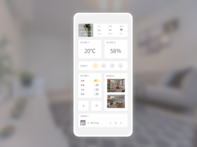 Daily UI #021 : Home Monitoring Dashboard
