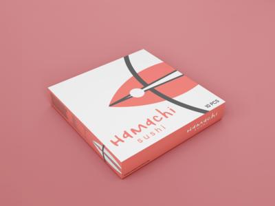 Hamachi sushi logo design
