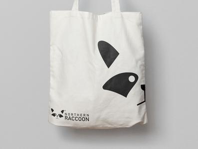 northern raccoon logo design