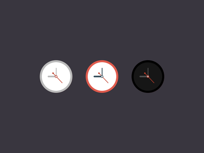 Clock Icon - PSD flat design psd template clock icon minimal circular