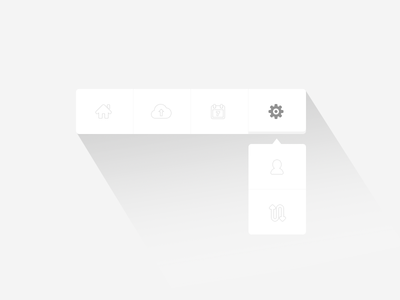 Toolbar UI - PSD toolbar ui user interface psd template flat design simple minimal icons