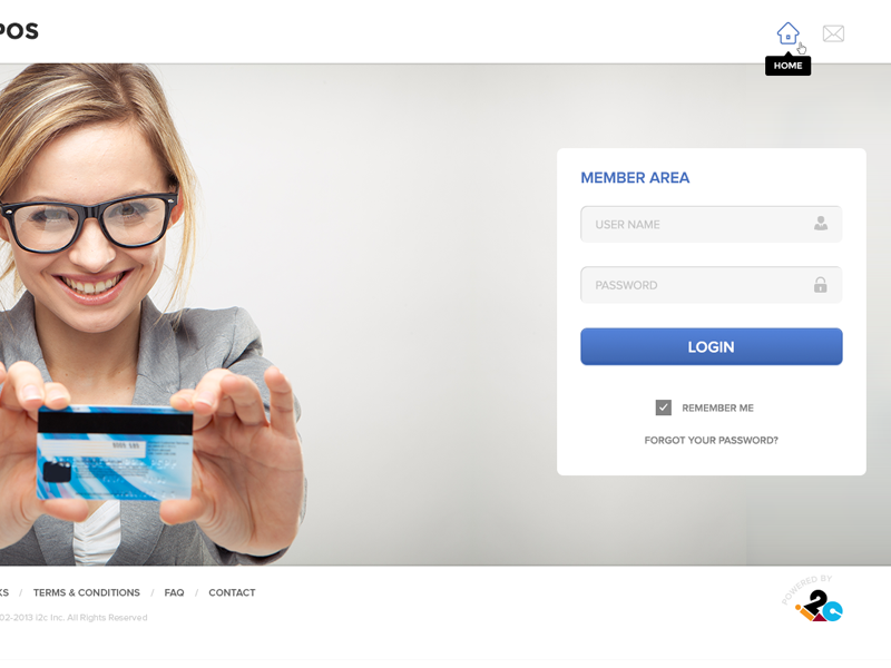WebPos - Member Login 02 login page landing page member area member login web form web application login page design web layout user interface textbox button outlined icon