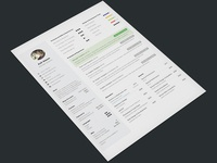 One Page Resume Template For Designers