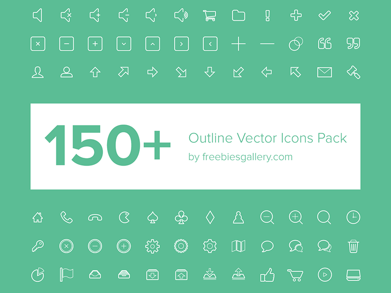 150+ Free Vector Outline Icons by Asif Aleem on Dribbble