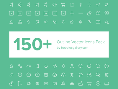 150+ Free Vector Outline Icons ios 7 icons ios android app mobile app icons vectors icons outline line icon arrows multimedia web icons