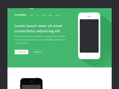 Mobile App Landing Page (PSD) by Asif Aleem - Dribbble