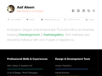 One page web resume template