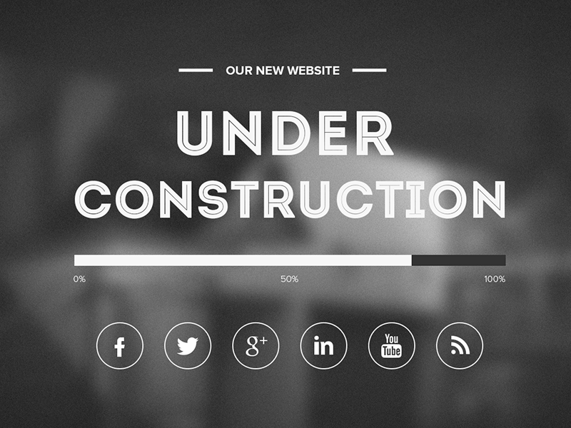 Free Under Construction Template Psd By Asif Aleem Dribbble