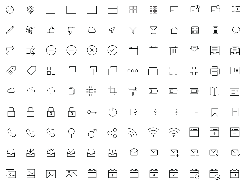 300 iOS and Android Vector Icons by Asif Aleem on Dribbble