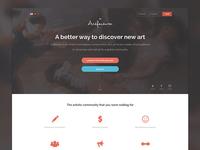 Artfactum Landing Page Design